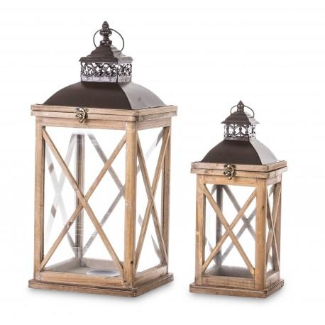Lampion Drewniany Kpl. drewno