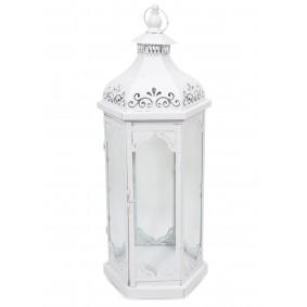 Lampion Metalowy metal szkło