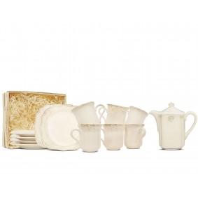 Pl Zestaw Deserowy Z Imbrykiem 6-Os Kubki Roman ceramika