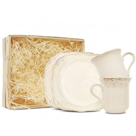 Pl Zestaw Deserowy 2-Os Kubki Roman ceramika
