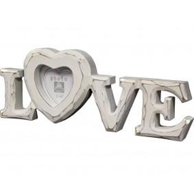 Drewniana ramka na zdjęcie napis LOVE
