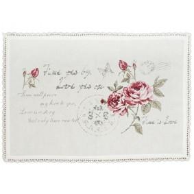 Bawełniana mata na stół 'Romantyczna róża' 34x48 cm
