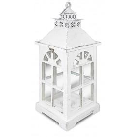 Lampion Drewniany (biała wieża)