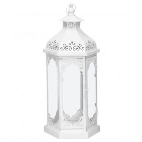 Lampion Metalowy biały 60cm