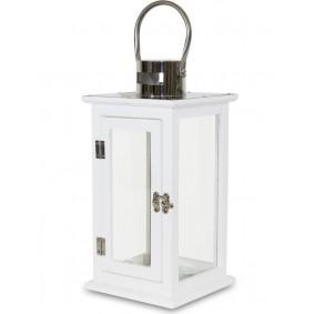 Biały drewniany lampion Stal Nierdzewna Nowoczesny 39cm