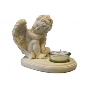 Świecznik Siedzący Anioł
