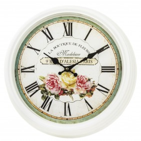 Zegar ścienny vintage róże prowansalski PROMOCJA