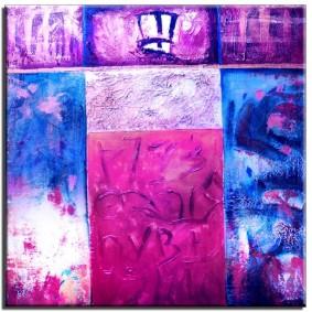 Obraz olejny w ramie abstrakcja G15919