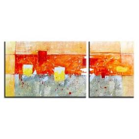 Obraz olejny w ramie abstrakcja G02760