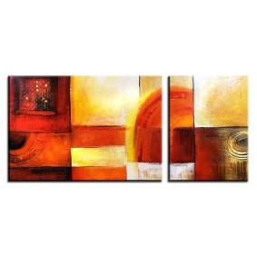Obraz olejny w ramie abstrakcja G03873