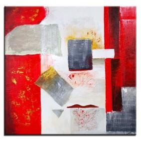 Obraz olejny w ramie abstrakcja G02755
