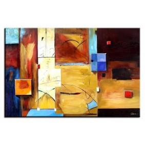 Obraz olejny w ramie abstrakcja G16844