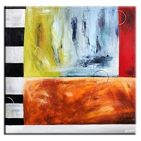 Obraz olejny w ramie abstrakcja G00814