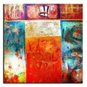 Obraz olejny w ramie abstrakcja G02750
