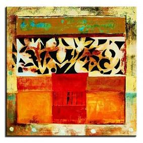 Obraz olejny w ramie abstrakcja G02745