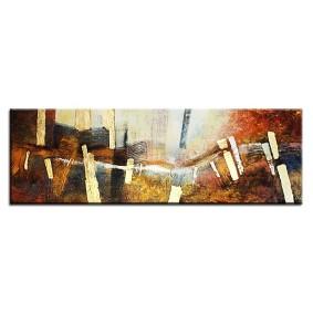 Obraz olejny w ramie abstrakcja G05051