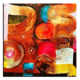 Obraz olejny w ramie abstrakcja G02754