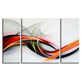 Obraz olejny w ramie abstrakcja G03805
