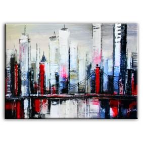 Obraz olejny blejtrama - Miasto IV
