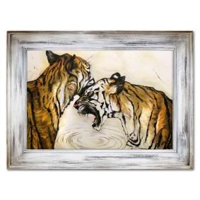 Obraz ręcznie malowany DZIKIE KOTYObraz