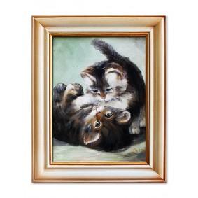 Obraz ręcznie malowany PSY i KOTYObraz
