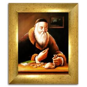 Obraz ręcznie malowany ŻydObraz