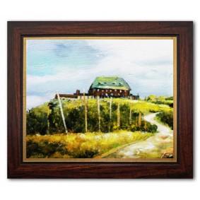 Obraz olejny w ramie Pejzaż tradycyjny G03712