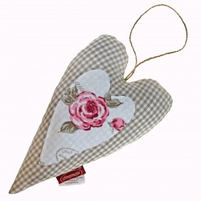 INSPIRACJA Romantyczna róża II -szpilecznik, serce (krata) 12/20cm