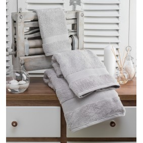 INSPIRACJA ZERO TWIST-ręcznik 70/140cm (600gsm)-POPIEL
