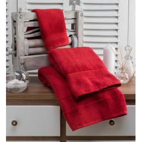 INSPIRACJA ZERO TWIST-ręcznik 50/100cm (600gsm)-CZERWIEŃ