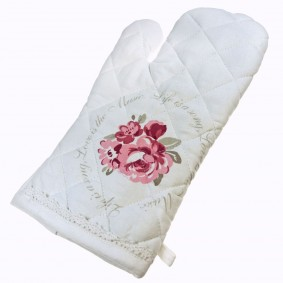 INSPIRACJA Romantyczna róża II -rękawica kuchenna