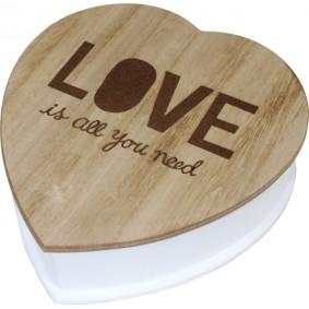 Pudełko / Skrzynka na drobiazgi drewniane LOVE