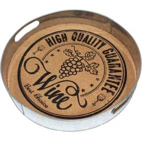 Okrągła Taca Metalowa Retro Vintage 33cm