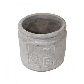 Ceramiczna osłonka na doniczkę LOVE Sznurek Rustic 11cm