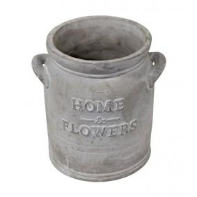 Ceramiczna osłonka na doniczkę FLOWERS Słój Rustic 17cm