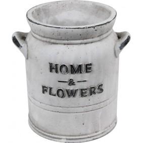 Ceramiczna osłonka na doniczkę HOME RUSTIC White 20cm