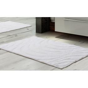 FALE II - dywanik łazienkowy 45/60cm Inspiracja BIEL
