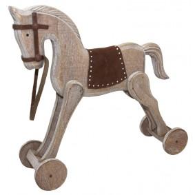 Figurka Drewniana Koń Na Biegunach Handmade!