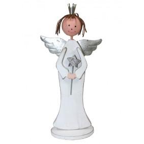 Drewniana Figurka Anioł Handmade! 23cm