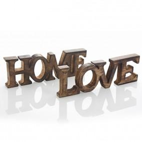 Drewniany Napis HOME  10cm/30cm BRĄZOWY