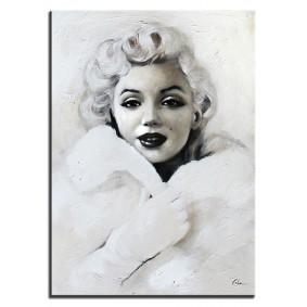 Obraz olejny ręcznie malowany Marilyn  50x70 cm