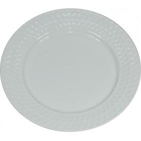 Biały Talerz deserowy 23 cm Ceramika Davos