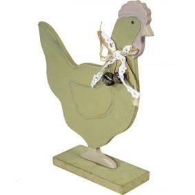 Figurka Drewniana Kura Duża Dekoracja Wielkanocna