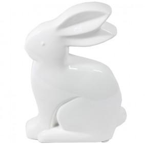 Figurka Ceramiczna Króliczek Biały 25 cm