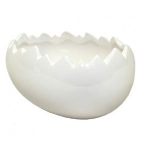 Świąteczna Wielkanocna Doniczka - Jajo 18,5cm BIAŁE