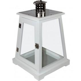 Lampion nowoczesny drewniano-metalowy 36,5 cm