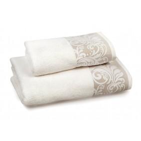 INSPIRACJA FELICIANA ręcznik 50/100cm  krem i beżowa lamówka