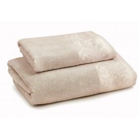 INSPIRACJA FELICIANA ręcznik 70/140cm  beż + krem. lamówka