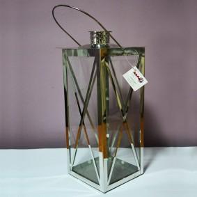 Lampion metalowy srebrny kopertka 52cm PROMOCJA