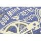 CHENILLE poszewka 45/45 RANGER Retro Rower lila